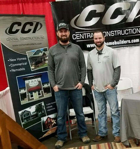 Jeremy and Lance of Central Construction Inc at the Alexandria Home and Garden Show